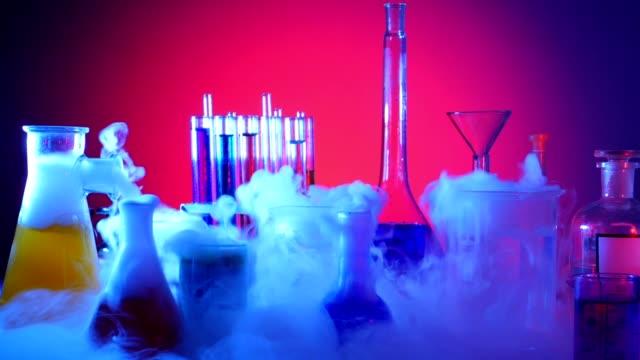 Laboratory Equipment. Laboratory Experiment Laboratory Equipment. Laboratory Experiment. Chemical Reaction beaker stock videos & royalty-free footage