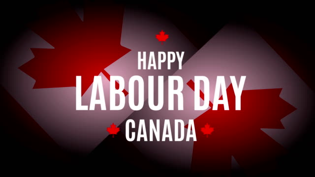 Labour Day Canada. 4k animation
