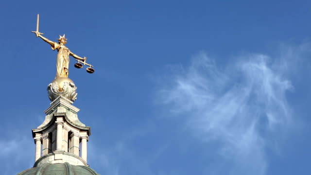 Lady Justice, Old Bailey, London, UK - time lapse video