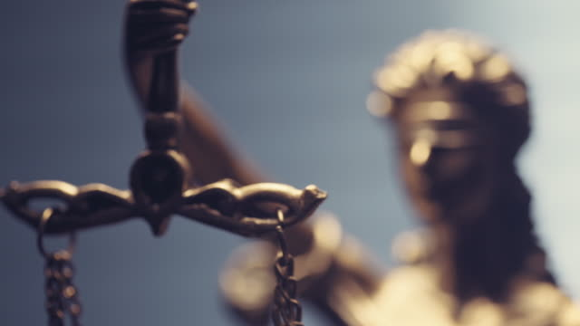 Lady Justice Statue The Statue of Justice - lady justice or Iustitia / Justitia the Roman goddess of Justice legal trial stock videos & royalty-free footage