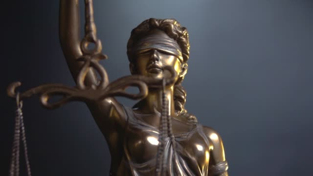 Lady Justice Statue The Statue of Justice - lady justice or Iustitia / Justitia the Roman goddess of Justice statue stock videos & royalty-free footage