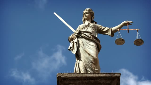Lady Justice Statue Timelapse of Lady Justice Statue, Dublin statue stock videos & royalty-free footage