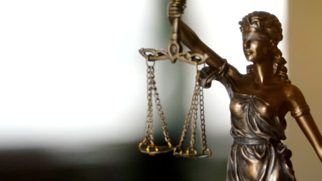 Lady Justice Statue The Statue of Justice - lady justice or Iustitia the Roman goddess of Justice legal trial stock videos & royalty-free footage