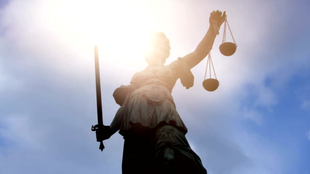 Lady Justice with sun Lady Justice with sun law stock videos & royalty-free footage
