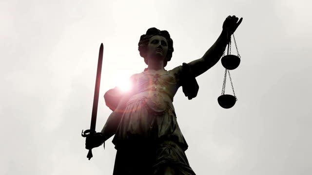 Lady Justice with sunlight video