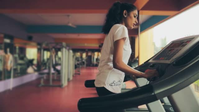 Lady on treadmill video