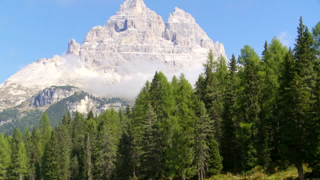 Lago Antorno and the Tre Cime di Lavaredo Peaks TD video