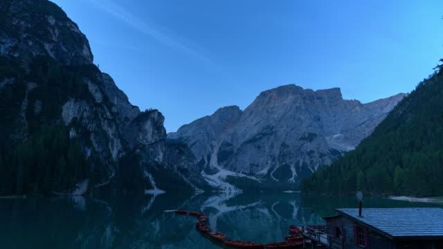 lago di braies,lake braies beautiful lake in Dolomites Italy