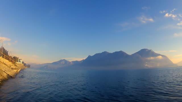 vídeos de stock e filmes b-roll de lago maggiore. itália. bela paisagem. - lago maggiore