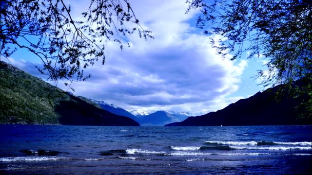 lago puelo el bolson Argentina - vídeo