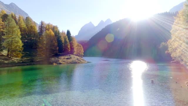 Lai di Palpuogna - mountain lake in autumn Swiss Alps