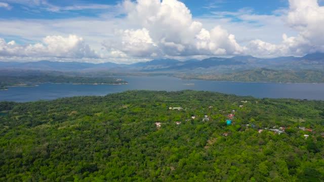 A lake among green hills and mountains. Pantabangan lake