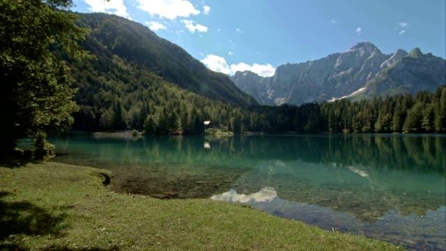 PAN Lake beneath the mountains video