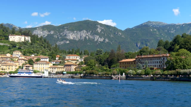 Lake Como Bellagio Town - video