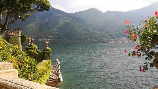 Lake Como. View from Beautiful Italian Villa Balbianello. Lake Como. View from Beautiful Italian Villa Balbianello. lombardy stock videos & royalty-free footage