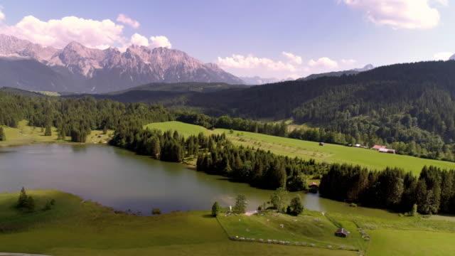 Lake Geroldsee and Karwendel Mountains in Upper Bavaria