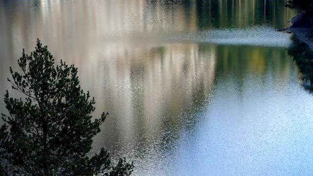 Lake in Alps video