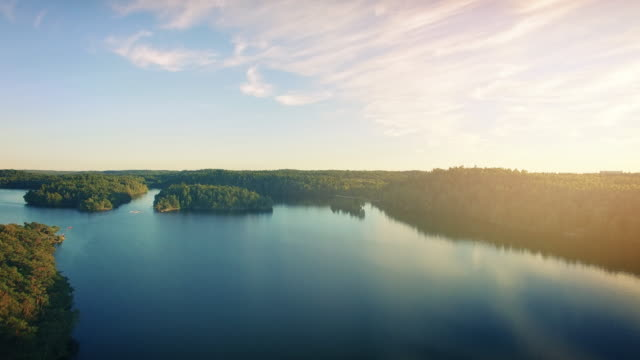 lake in sweden flyover - lakes stock videos and b-roll footage
