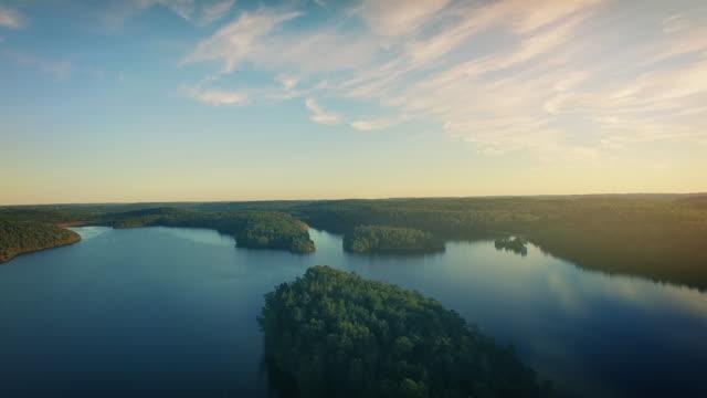 Lake in Sweden Flyover video