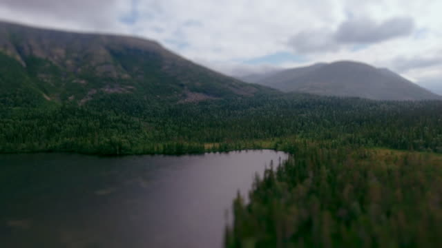 Lake in the mountains video
