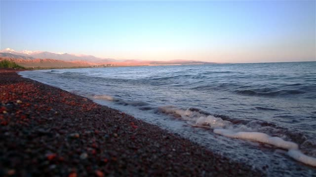 Lake Issyk-kyl , Kyrgyzstan . video