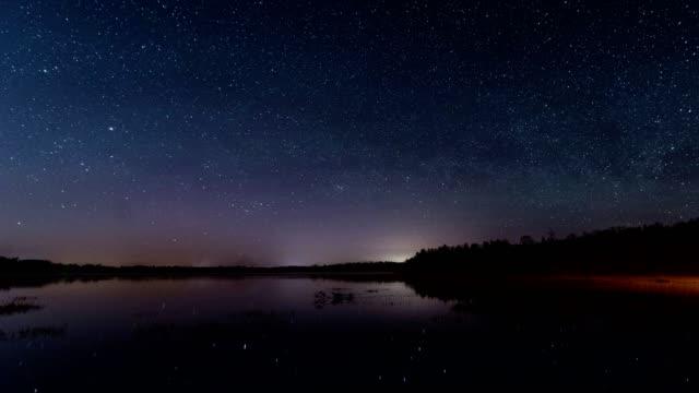 vídeos y material grabado en eventos de stock de lapso de lago - estrella del norte