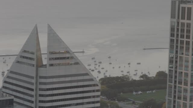Lake Michigan and Millennium Park Chicago video