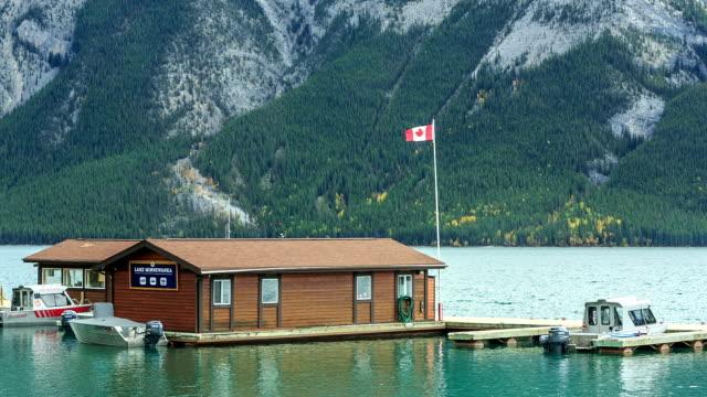lake minnewanka, banff, alberta, canada video