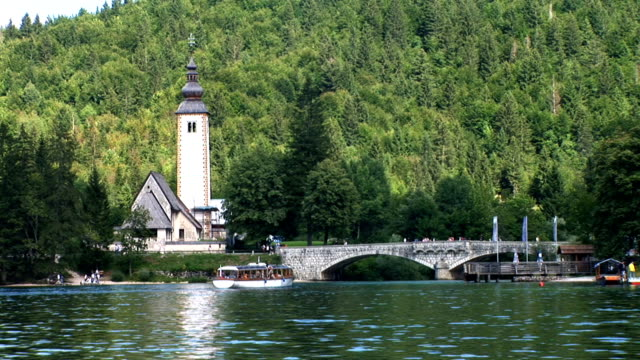 hd: bohinj-see - slowenien stock-videos und b-roll-filmmaterial