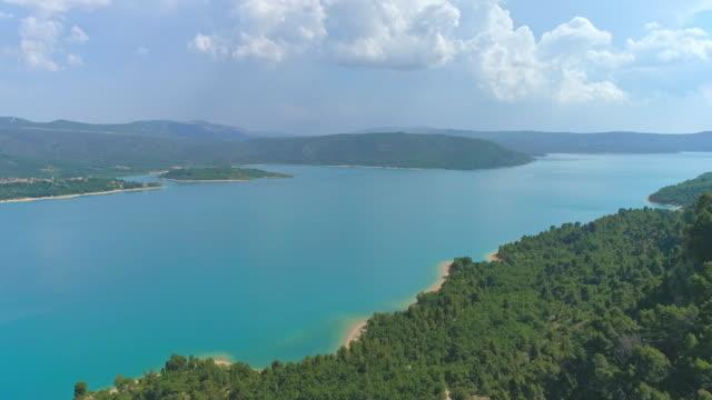 AERIAL Lake of Sainte-Croix