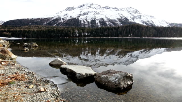 Lake of St Moritz in Switzerland video