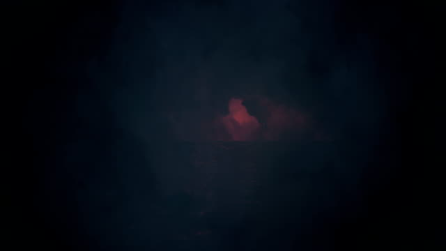 lake on a creepy night under a lightning storm - lightning стоковые видео и кадры b-roll