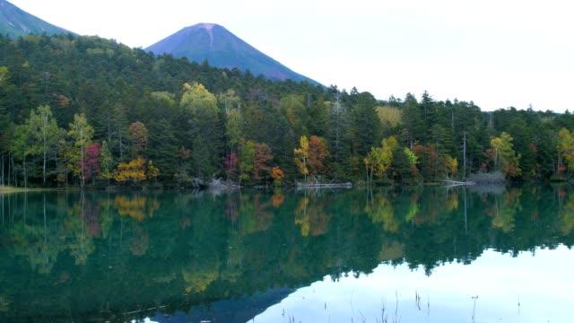 sjön onneto, akan nationalpark, hokkaido, japa - akan nationalpark bildbanksvideor och videomaterial från bakom kulisserna