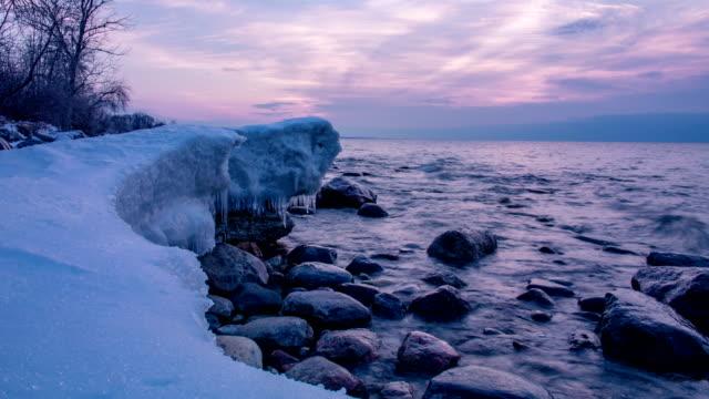 Lake Ontario in winter video