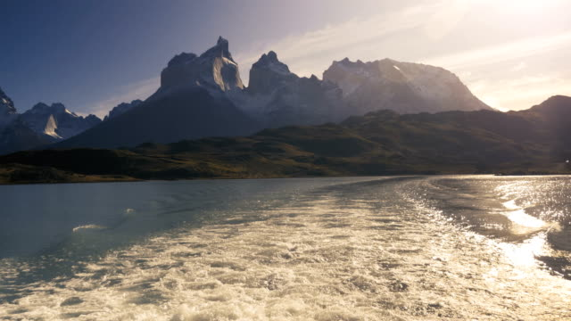Lake Pehoe on Torres Del Paine by Boat, National Park in Patagonia, Chile 10 Lake Pehoe on Torres Del Paine by Boat, National Park in Patagonia, Chile 10 sorpresa stock videos & royalty-free footage