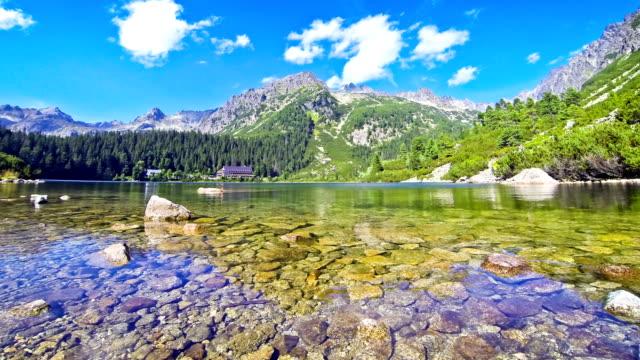 Lake Popradske pleso in High Tatras, Slovakia video