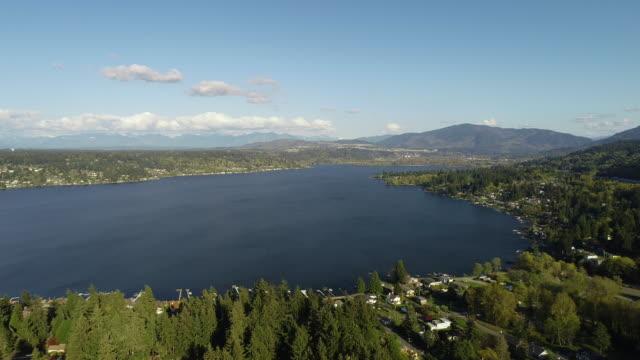 sammamish 湖貝爾維尤華盛頓空中 - 州立公園 個影片檔及 b 捲影像