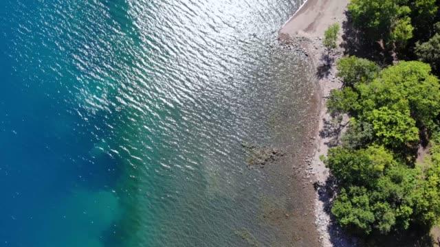 Lake Shikotsu (Shikotsuko) in Chitose City, Hokkaido, Japan. Lake Shikotsu is caldera lake with the second water storage in Japan Lake Shikotsu (Shikotsuko) in Chitose City, Hokkaido, Japan. Lake Shikotsu is caldera lake with the second water storage in Japan natural condition stock videos & royalty-free footage