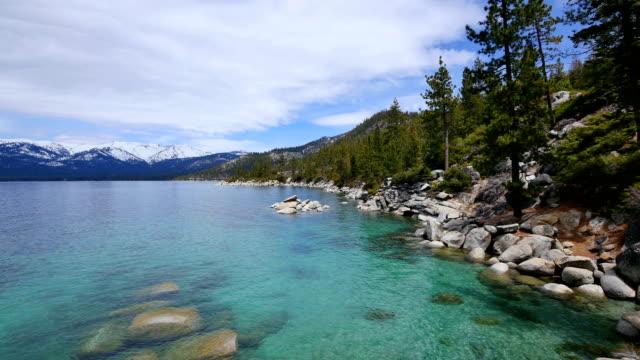 lake tahoe 、カリフォルニア州 - カリフォルニアシエラネバダ点の映像素材/bロール