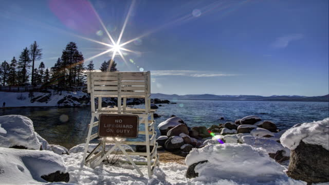 Lake Tahoe Sand Harbor Winter Landscape