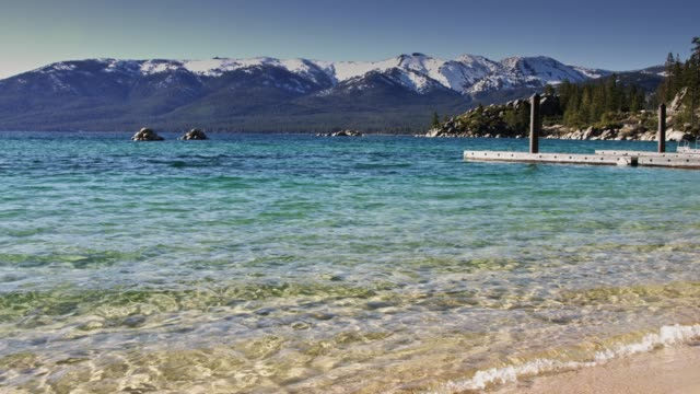 Lake Tahoe Waters Lapping Sand Harbor Beach