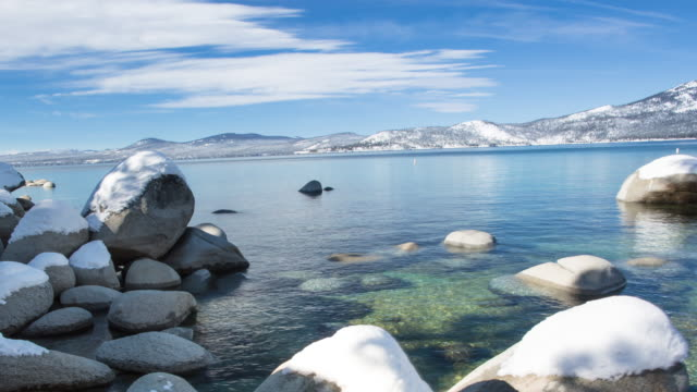 Lake Tahoe Winter Landscape at Sand Harbor