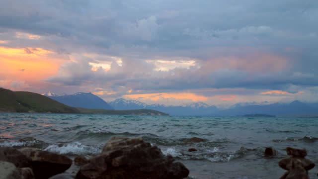 Lake Tekapo at Dusk video