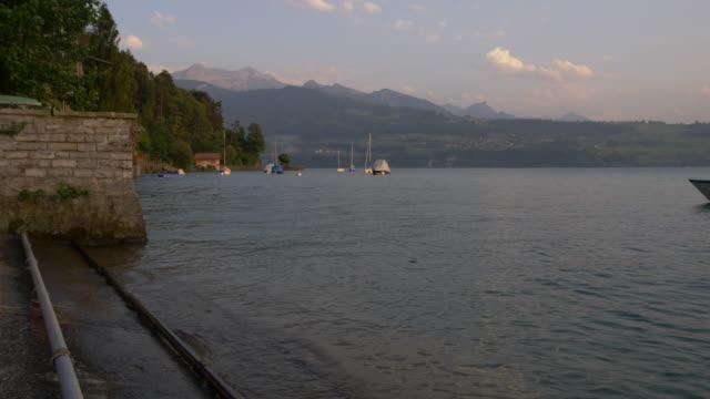Lake Thun Scenery. Interlaken, Jungfrau Region. Switzerland video