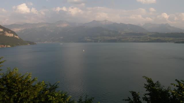 Lake Thun. Switzerland. Interlaken Area. Jungfrau Region. video
