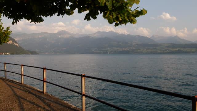 Lake Thun Vista. Switzerland. Interlaken Area. Jungfrau Region. video