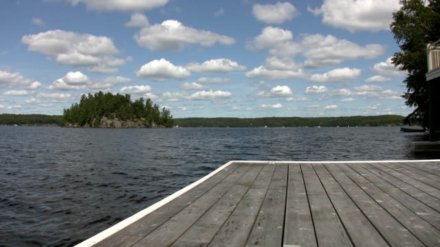 Lake view from cottage dock. video