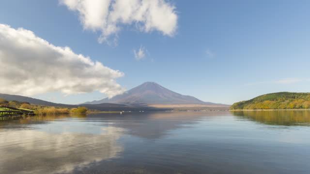 Lake Yamanakako and mt.Fuji in sunny day video