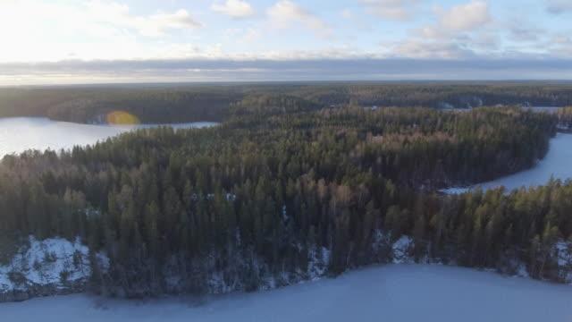 vídeos de stock e filmes b-roll de lakeland aerial view - arquipélago
