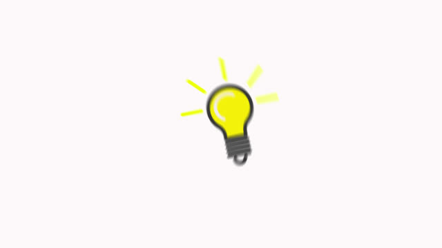 Lamp Line Icon Animation with Alpha